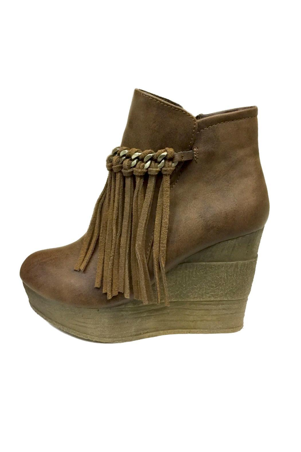 343eb59ed80 Sbicca Fringe Wedge Bootie from Texas by Marta s Boutique — Shoptiques