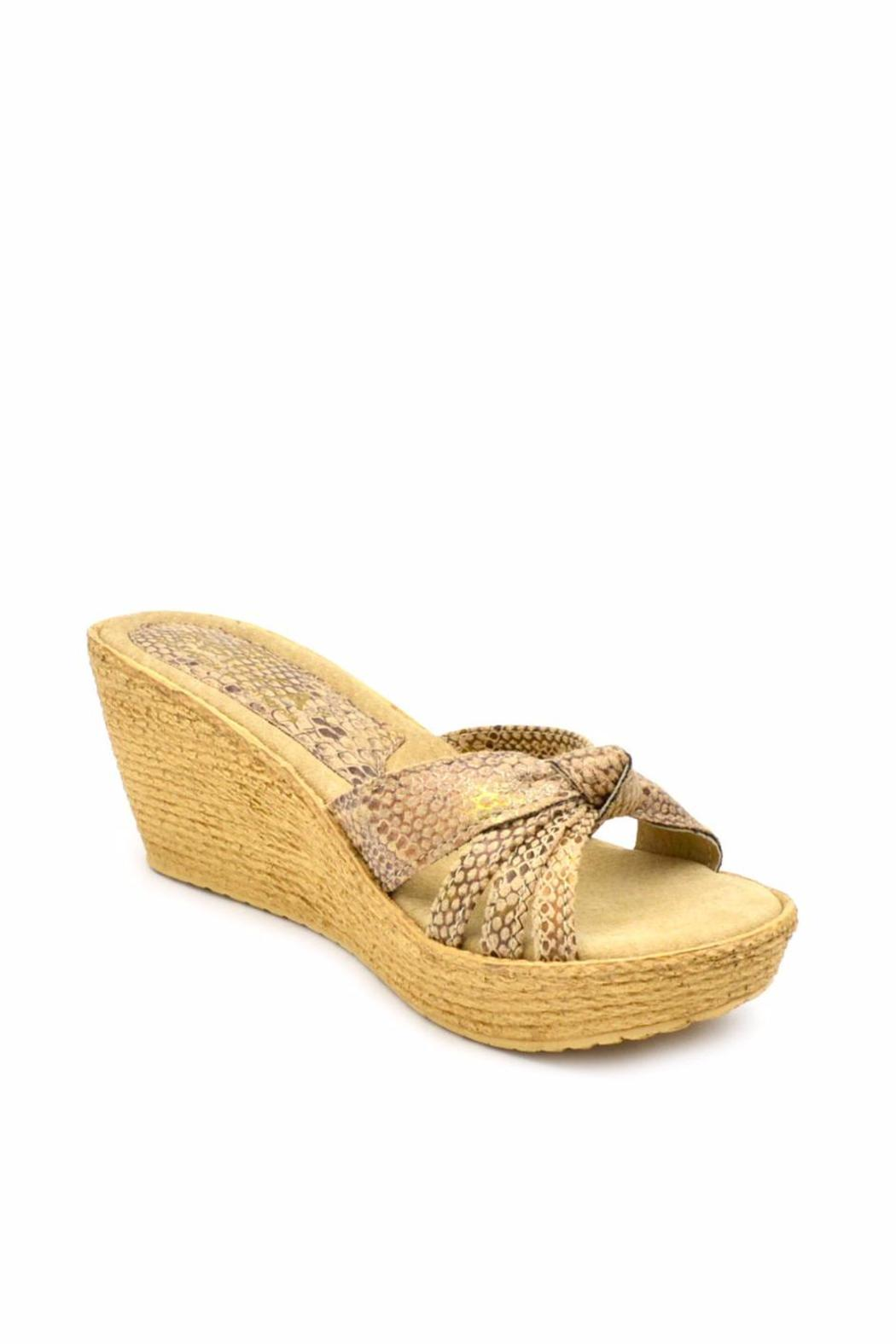 Sbicca Reptile-Embossed Wedge - Front Full Image