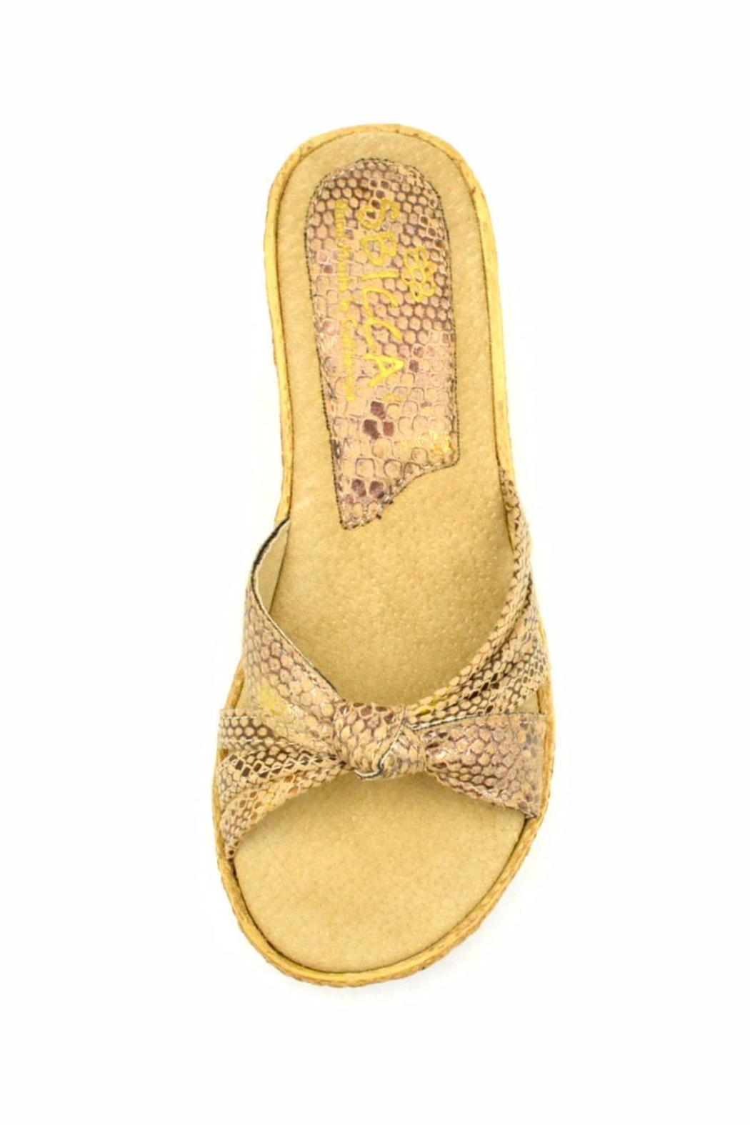Sbicca Reptile-Embossed Wedge - Back Cropped Image