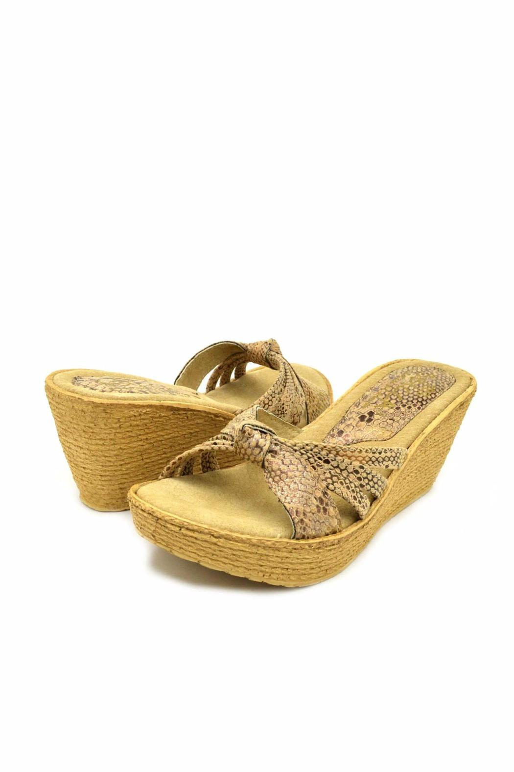 Sbicca Reptile-Embossed Wedge - Side Cropped Image
