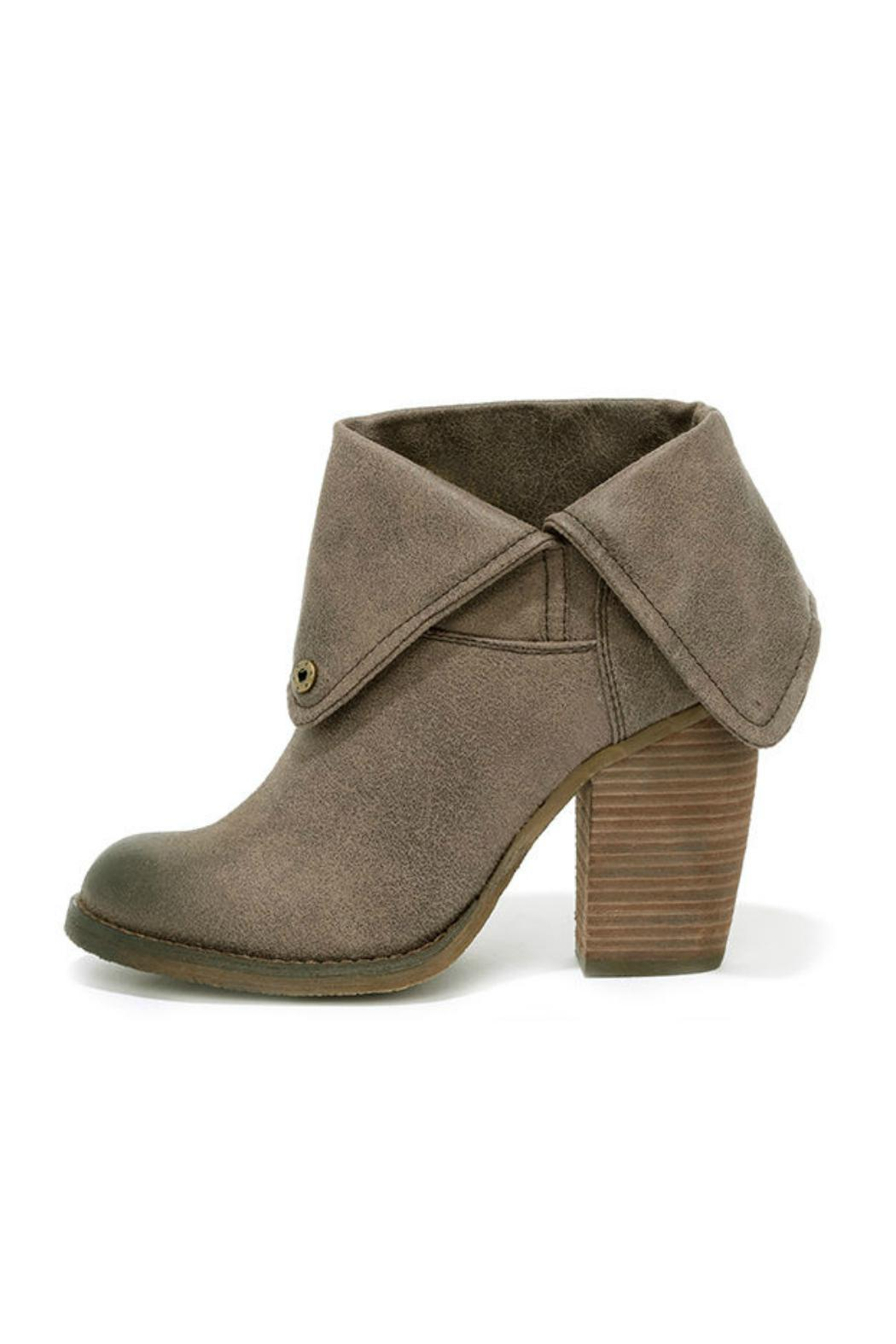 Taupe Fold-Over Bootie