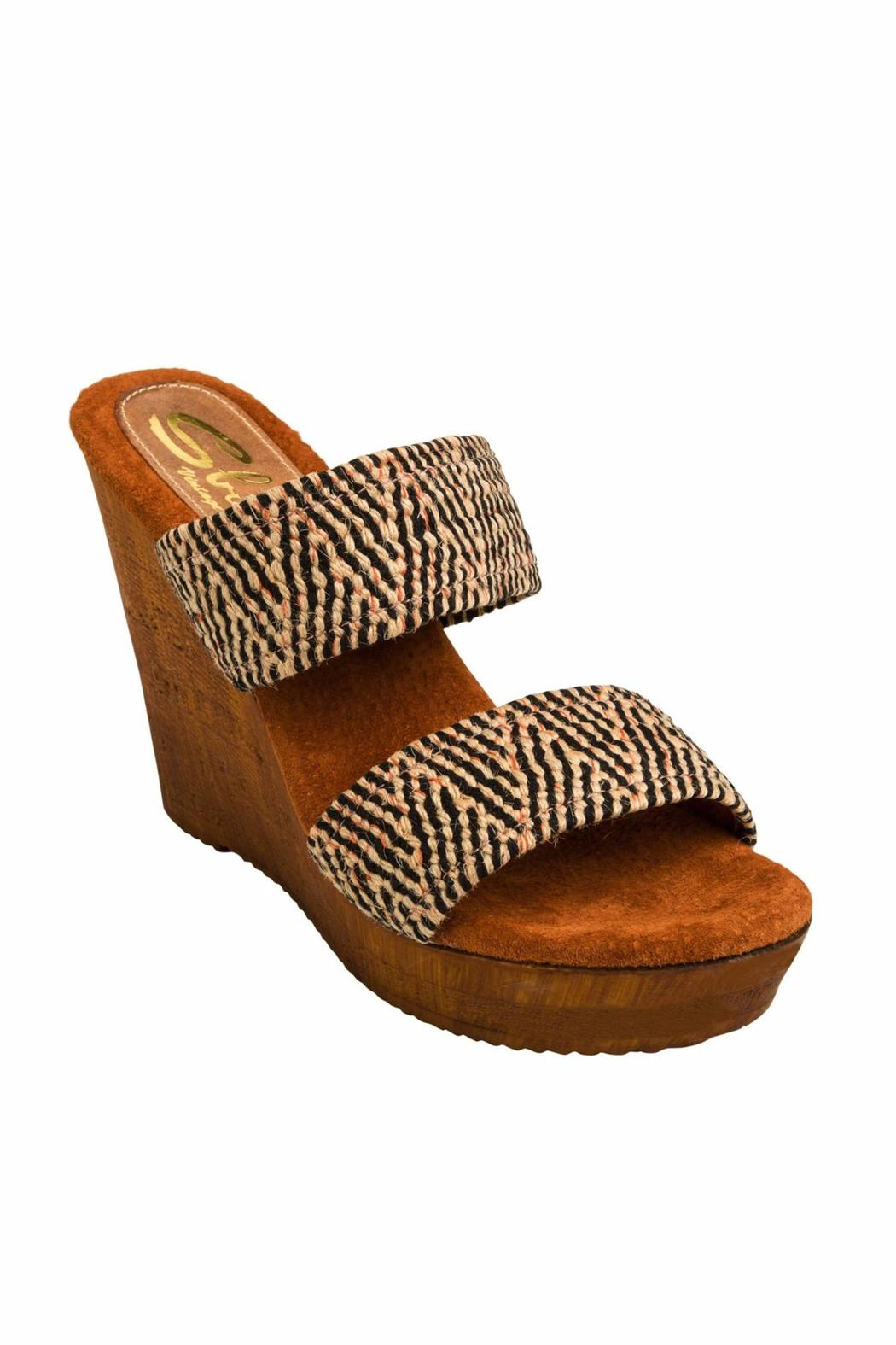 Sbicca vintage collection Double Strap Wedge - Front Full Image