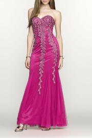 Scala Strapless Fitted Gown - Product Mini Image