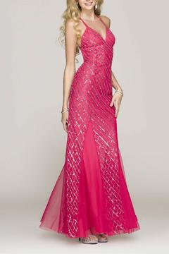 Scala V-Neck Fitted Gown - Product List Image