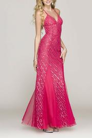 Scala V-Neck Fitted Gown - Product Mini Image