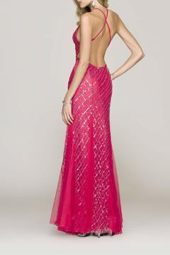 Scala V-Neck Fitted Gown - Alternate List Image