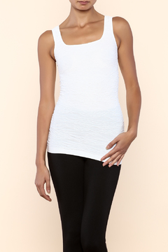 Scala White Scrunch Tank - Product List Image