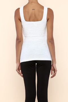 Scala White Scrunch Tank - Alternate List Image
