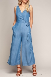 Naked Zebra Scallop Denim Jumpsuit - Product Mini Image