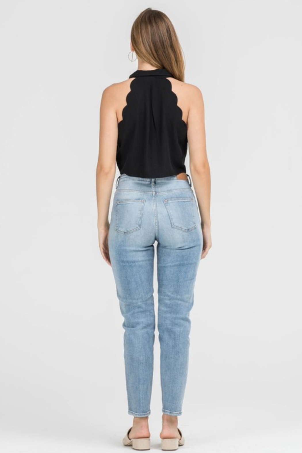 Lush Clothing  Scallop Halter Top - Side Cropped Image