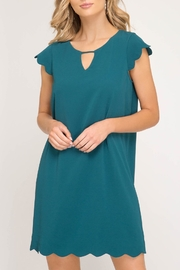 She + Sky Scallop Hem Dress - Product Mini Image