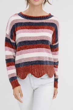 Shoptiques Product: Scallop-Hem Pullover Sweater