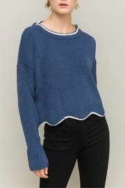 Hem & Thread Scallop Hem Sweater - Product Mini Image