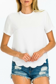 Pretty Little Things Scallop Hem Top - Product Mini Image