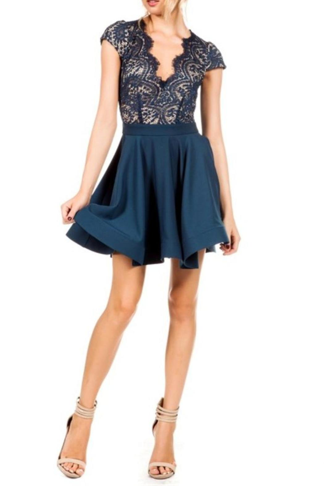 Scallop Lace Flare Dress From Laredo By Dollz Boutique