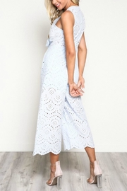 Pretty Little Things Scallop Lace Jumpsuit - Front full body