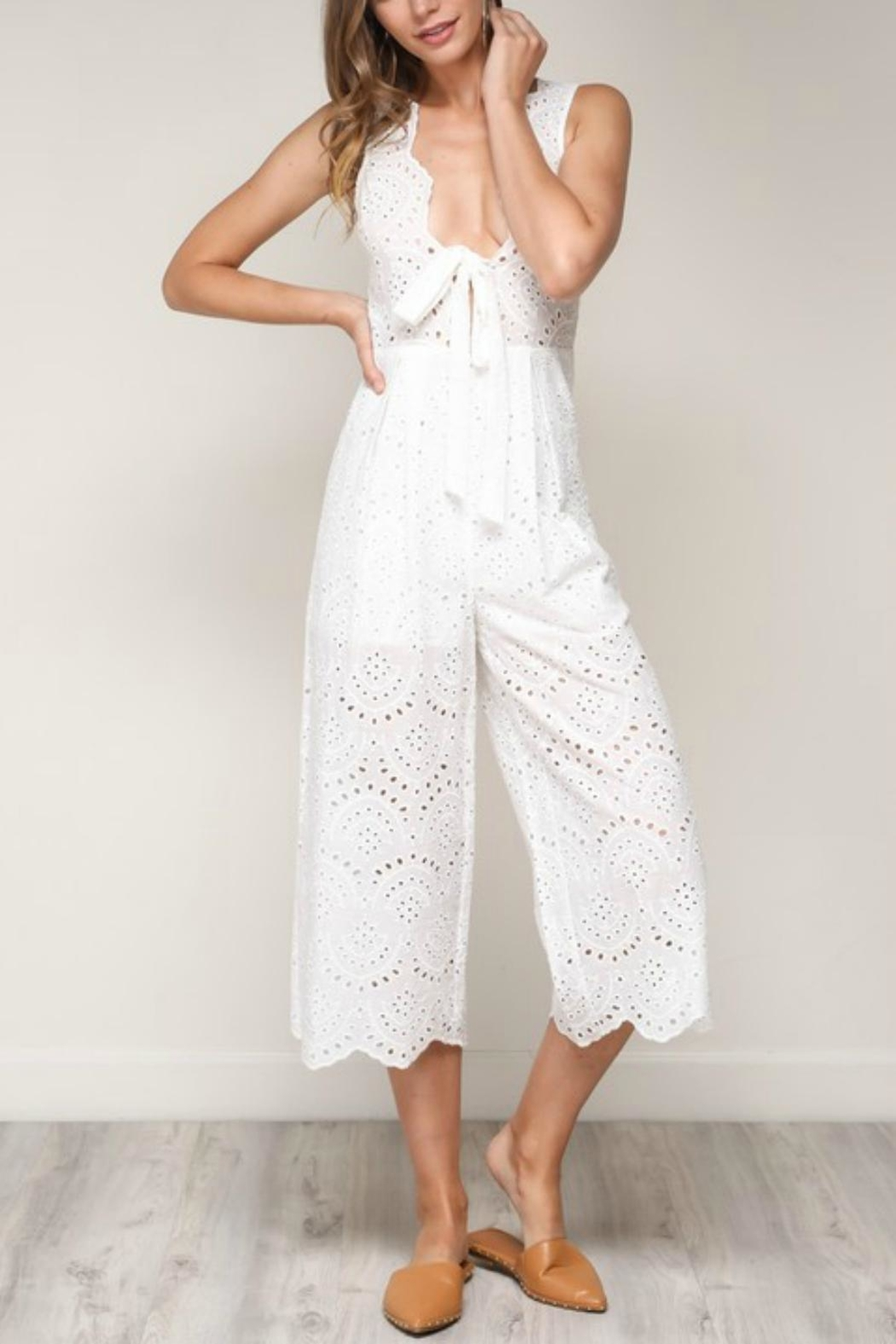 Pretty Little Things Scallop Lace Jumpsuit - Main Image