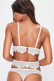 Racine Scallop Lace Thong - Front full body
