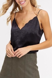 Listicle Scallop-Neckline Cami Top - Product Mini Image