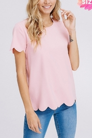 Lyn -Maree's Scallop Sleeve Tee - Product Mini Image