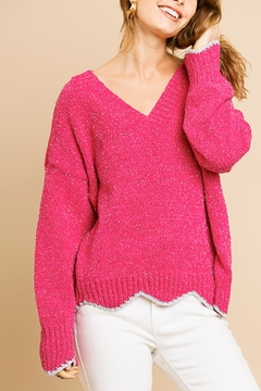 Umgee  Scallop Style Sweater - Product List Image