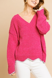 Umgee  Scallop Style Sweater - Product Mini Image