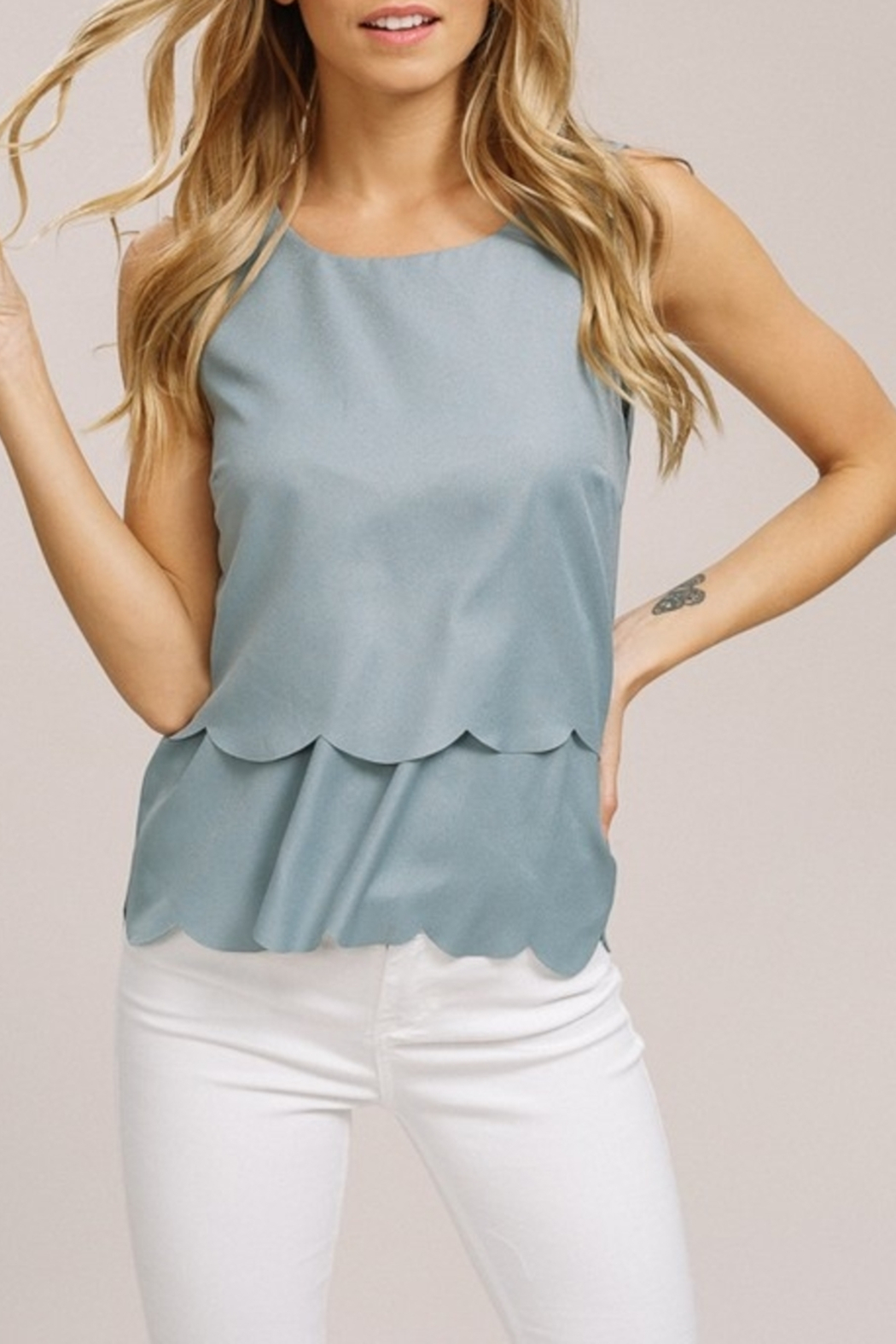 Listicle Scallop Summer top - Main Image