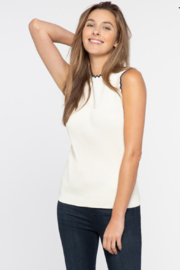 Nic + Zoe Scallop Sweater Tank, Milkwhite Heather - Product Mini Image