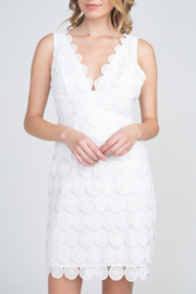 Minuet Scallop Trim Lace Dress - Product Mini Image