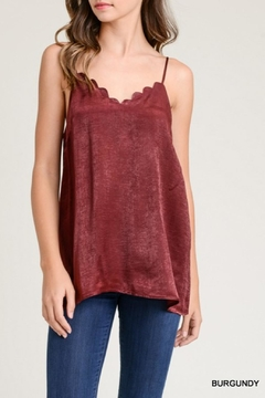 Shoptiques Product: Scalloped Adjustable Tank