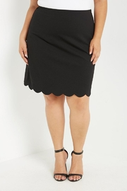 Soprano Scalloped Black Skirt - Product Mini Image