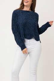 Pretty Little Things Scalloped Chenille Sweater - Product Mini Image