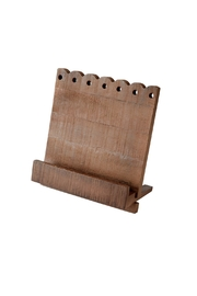 Mud Pie Scalloped Cookbook Holder - Front cropped