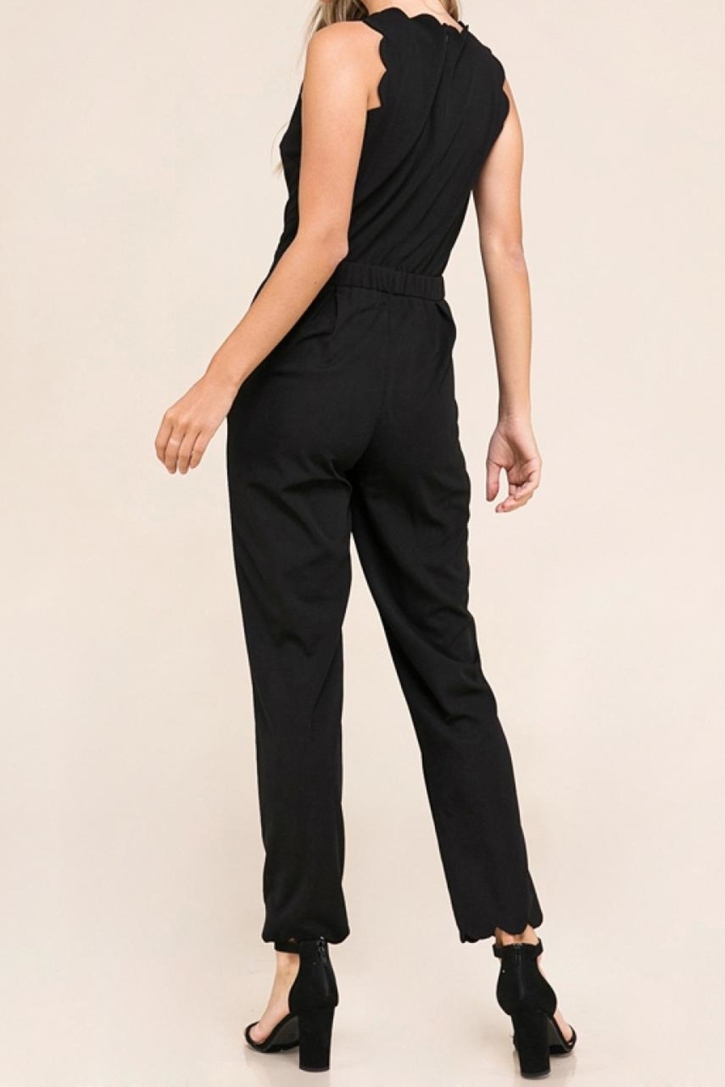 Made by Mila Scalloped Edged Jumpsuit - Side Cropped Image