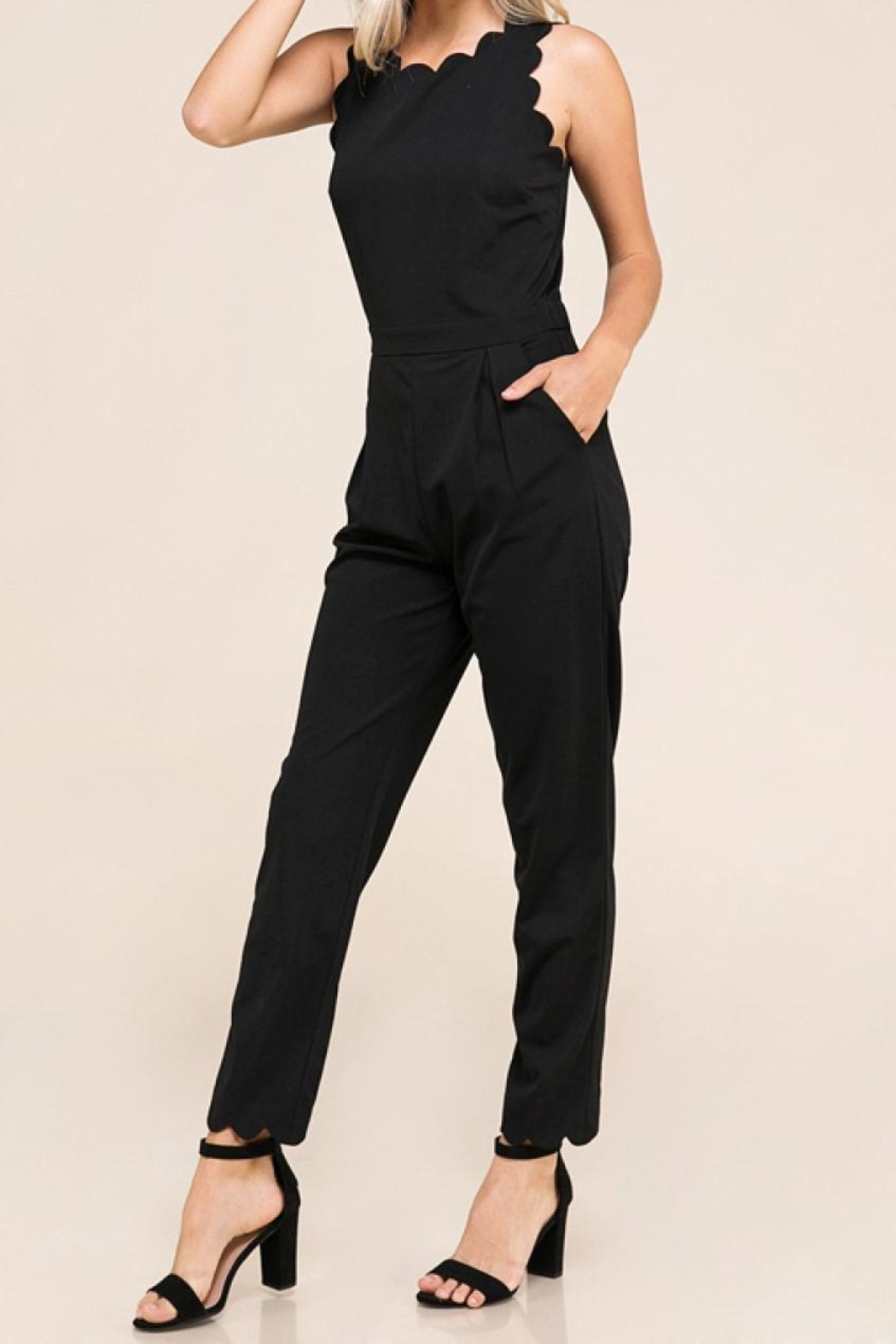 Made by Mila Scalloped Edged Jumpsuit - Main Image