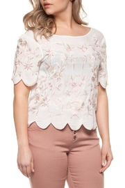 Dex Scalloped Embroidered Top - Product Mini Image