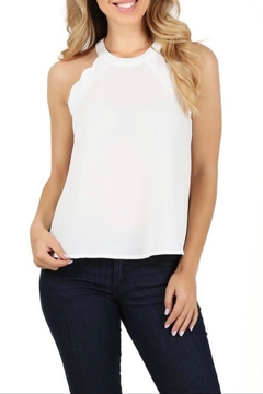 Milk & Honey Scalloped Halter Top - Product List Image
