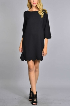 Rosette Scalloped Hem Dress - Product List Image