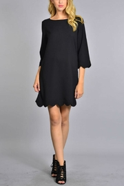 Rosette Scalloped Hem Dress - Product Mini Image