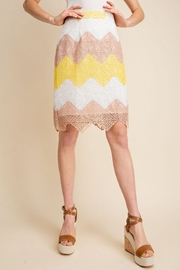 Gilli  Scalloped Hem Pencil Skirt - Product Mini Image