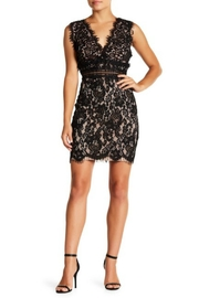 Just Me Scalloped Lace Bodycon-Dress - Front cropped