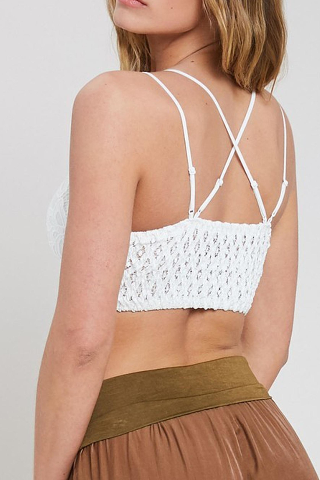 Wishlist Scalloped Lace Bralette - Front Full Image