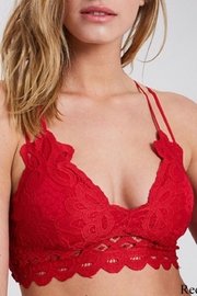 Anemone Scalloped Lace Bralette - Front cropped