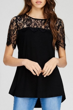 Shoptiques Product: Scalloped Lace Top