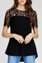 Jodifl Scalloped Lace Top - Front cropped