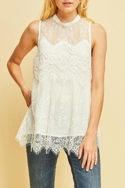 Entro Scalloped Lace Top - Product Mini Image