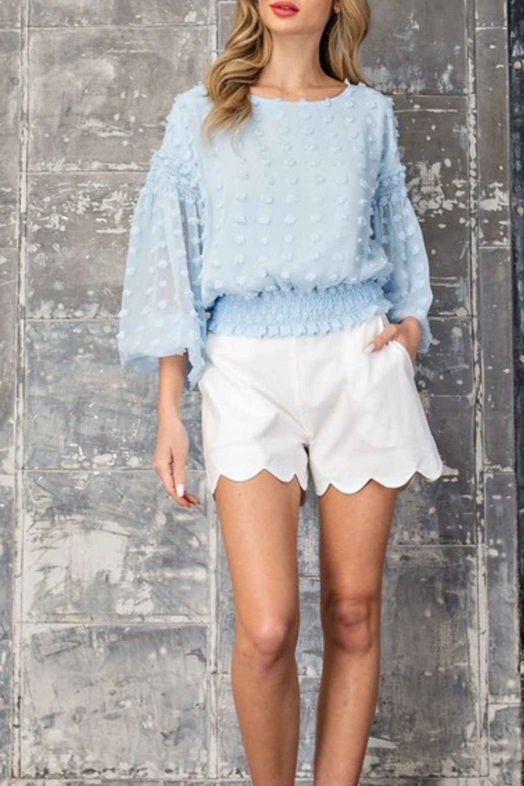 ee:some Scalloped Shorts - Front Cropped Image