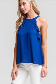 Lush Scalloped Sleeveless Blouse - Front cropped