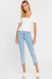 Endless Rose Scalloped Square Neck Sweater - Front cropped