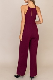 Lush Clothing  Scalloped Style Jumpsuit - Front full body